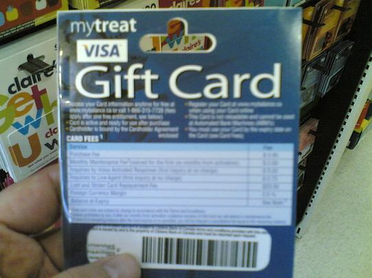 VISA Gift Card insanity